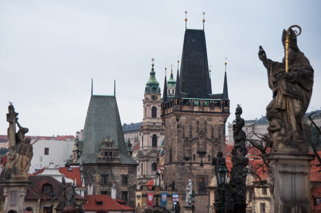 View of the Powder Tower. Prague. Czech Republic, Western Europe. October 23, 2012